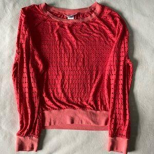 Hard Tail Holey Jersey Shrinky Sweatshirt Size S